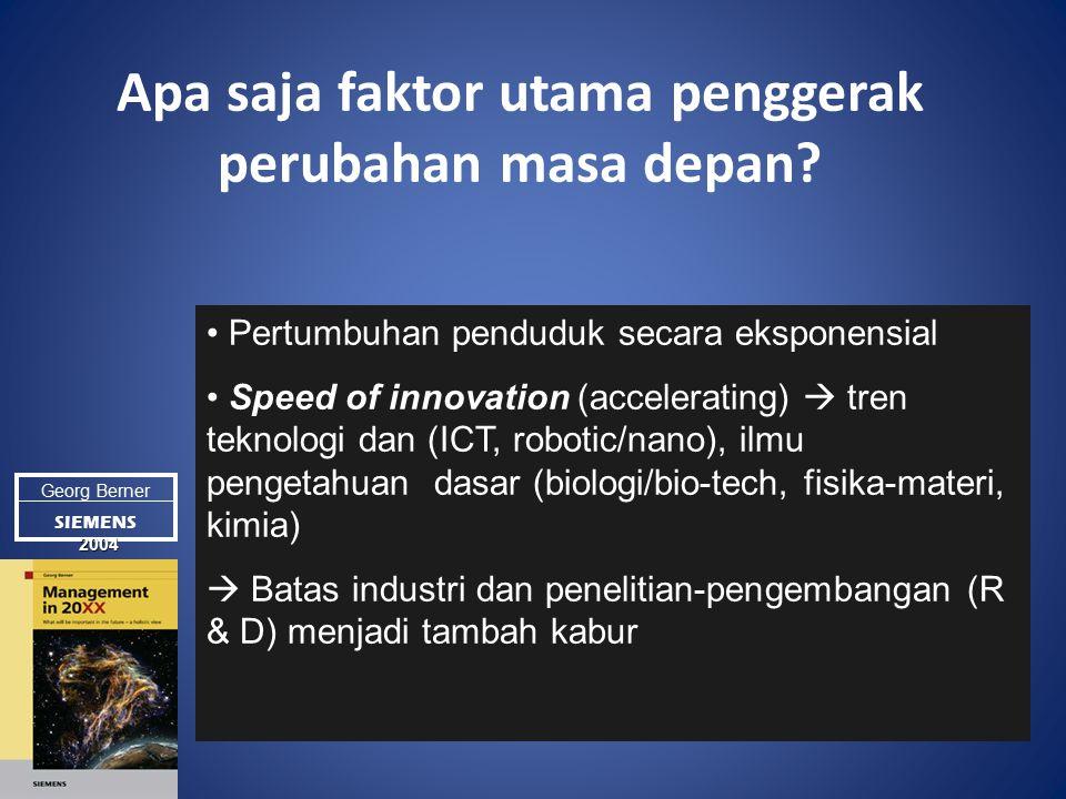 Apa saja faktor utama penggerak perubahan masa depan.