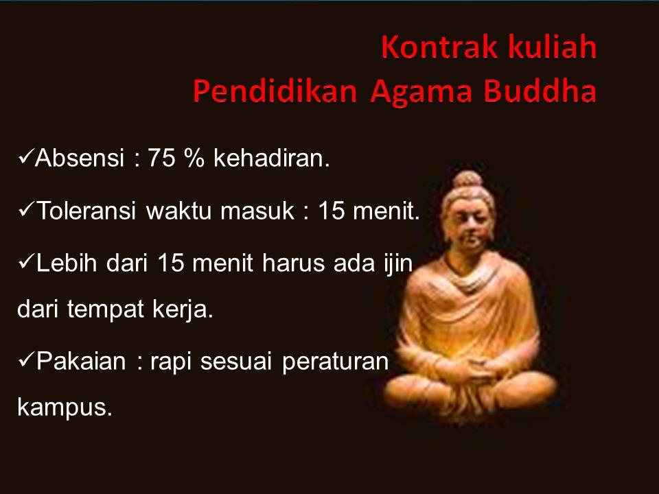 Materi Kuliah Pendidikan Agama Buddha 1.Tuhan YME dan Ketuhanan dalam Pandangan Agama Buddha 2.