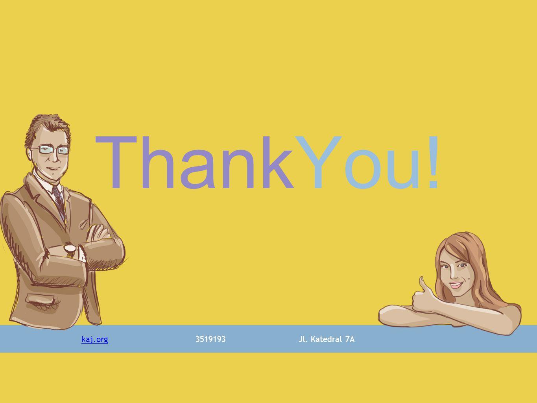 ThankYou! kaj.org3519193Jl. Katedral 7A