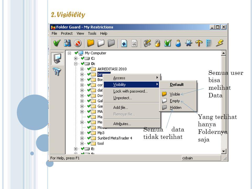 Semua user bisa melihat Data Yang terlihat hanya Foldernya saja Semua data tidak terlihat 2.