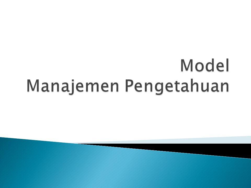 1.Memahami kunci utama model teoritis Manajemen Pengetahuan yang digunakan saat ini 2.