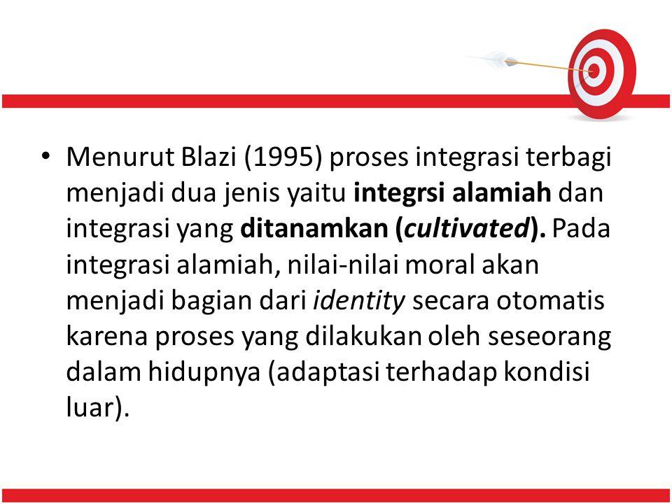 Menurut Blazi (1995) proses integrasi terbagi menjadi dua jenis yaitu integrsi alamiah dan integrasi yang ditanamkan (cultivated). Pada integrasi alam