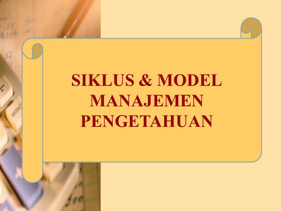 Model KM Menggambarkan pendekatan holistik terhadap KM Telah diriview, dikritik, dan didiskusikan secara ekstensif Model telah diimplementasikan dan diujicobakan untuk reliabilitas dan validitas