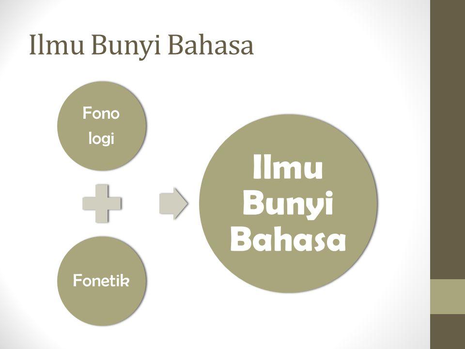 Ilmu Bunyi Bahasa Fono logi Fonetik Ilmu Bunyi Bahasa