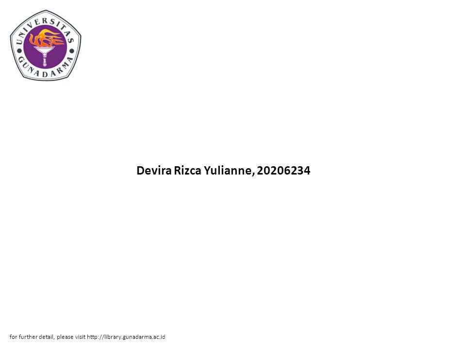 Abstrak ABSTRAK Devira Rizca Yulianne, 20206234 ANALISIS SISTEM INFORMASI PENJUALAN KREDIT PADA CV.