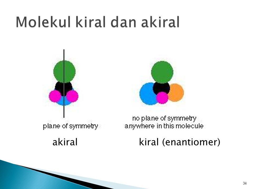 akiral kiral (enantiomer) 34