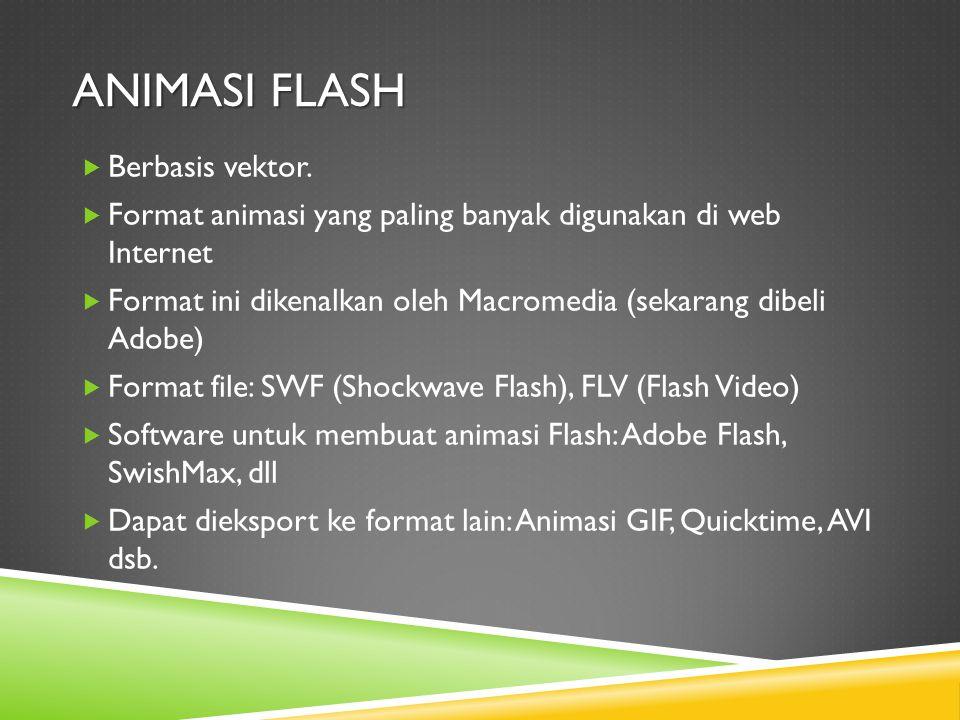 ANIMASI FLASH  Berbasis vektor.
