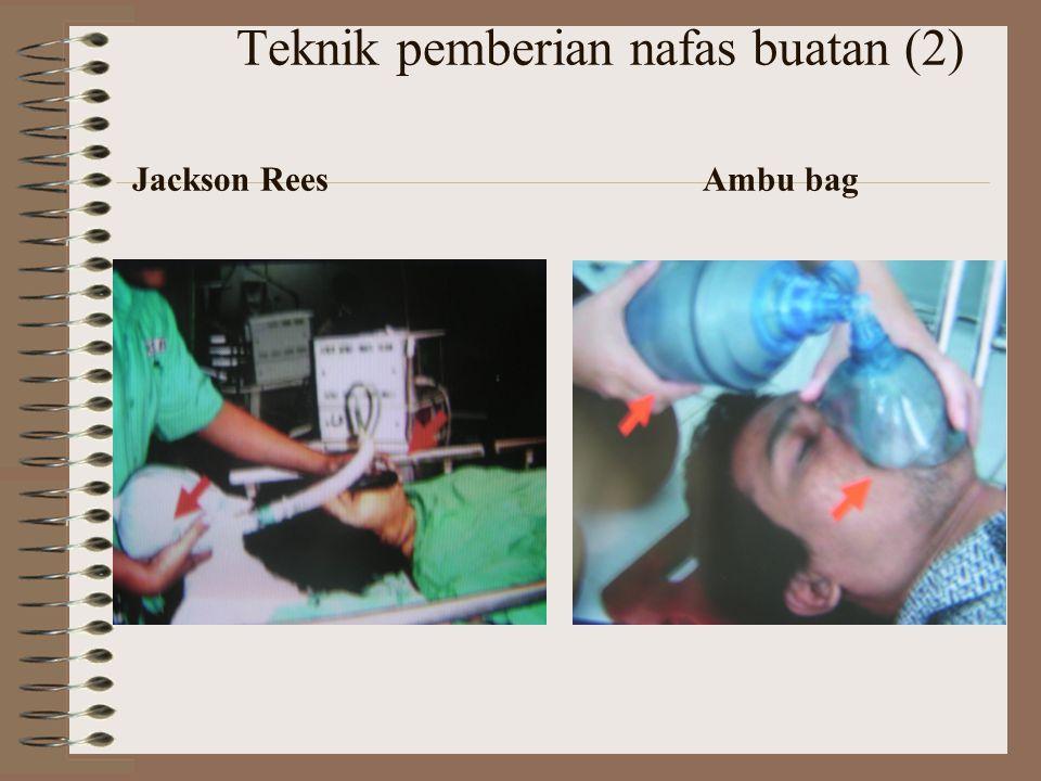 Teknik pemberian nafas buatan (2) Jackson Rees Ambu bag