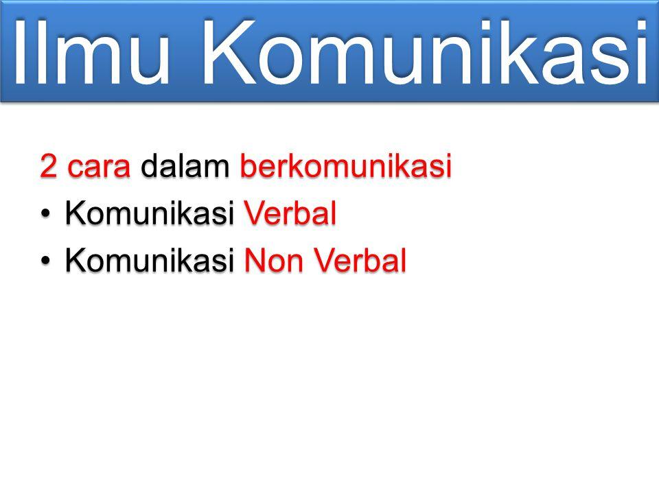 Ilmu Komunikasi 2 cara dalam berkomunikasi Komunikasi VerbalKomunikasi Verbal Komunikasi Non VerbalKomunikasi Non Verbal