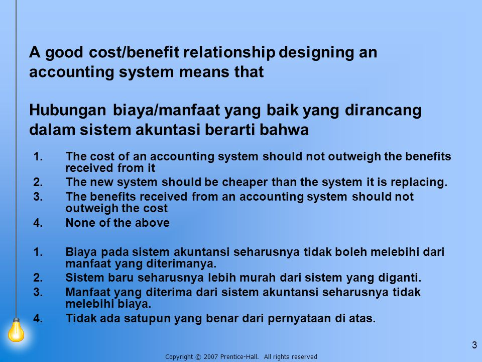 Copyright © 2007 Prentice-Hall. All rights reserved 4 Jawaban: 1