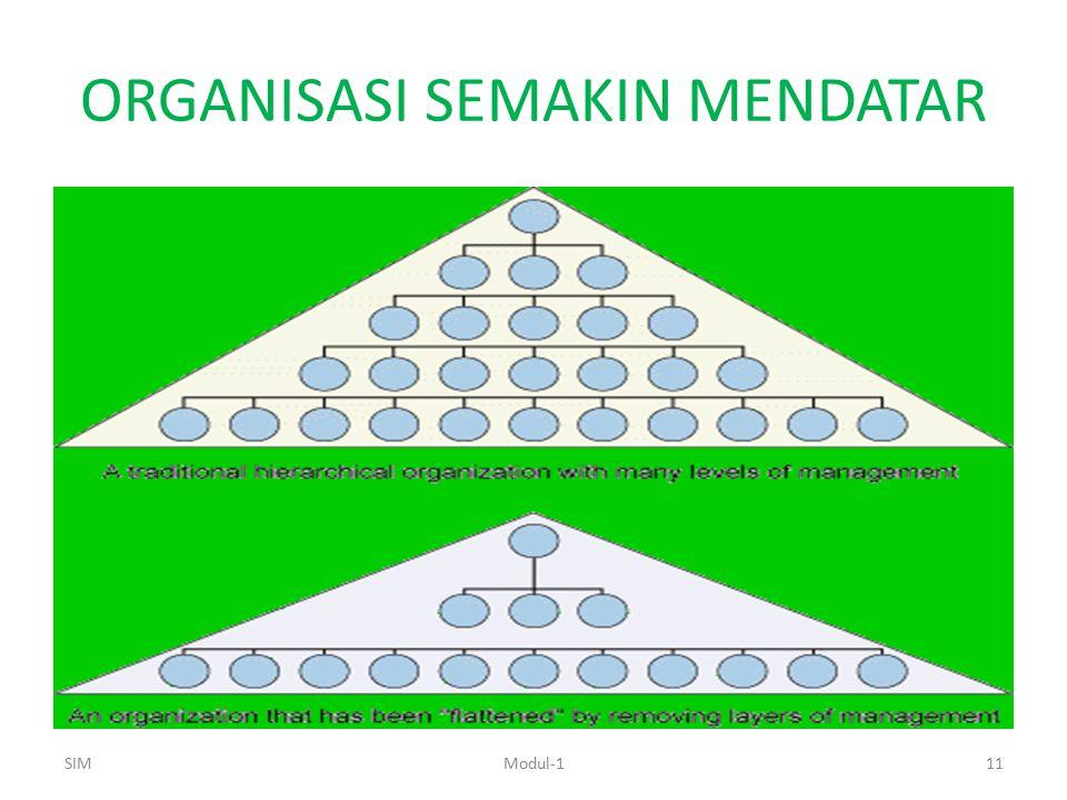 ORGANISASI SEMAKIN MENDATAR SIMModul-111