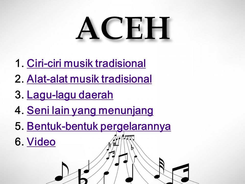1. Aliran musik dari pengaruh musik Islam