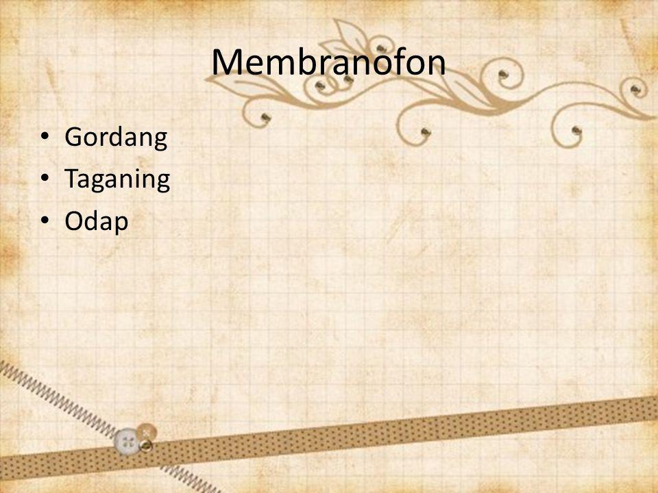 Membranofon Gordang Taganing Odap