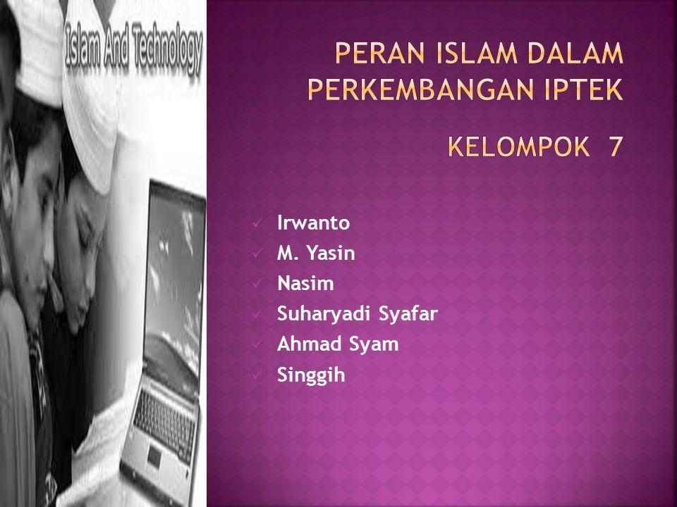 Irwanto M. Yasin Nasim Suharyadi Syafar Ahmad Syam Singgih