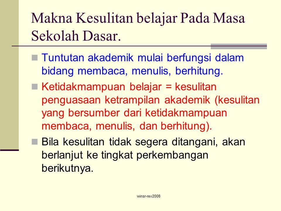 winsr-rev2008 Makna Kesulitan belajar Pada Masa Sekolah Dasar.