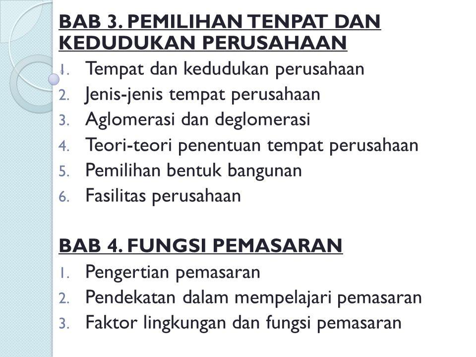 BAB 5.FUNGSI KEUANGAN 1. Keuangan 2. Biaya BAB 6.