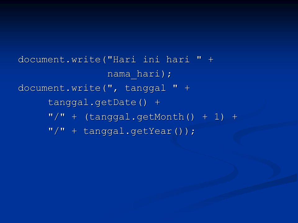 document.write(