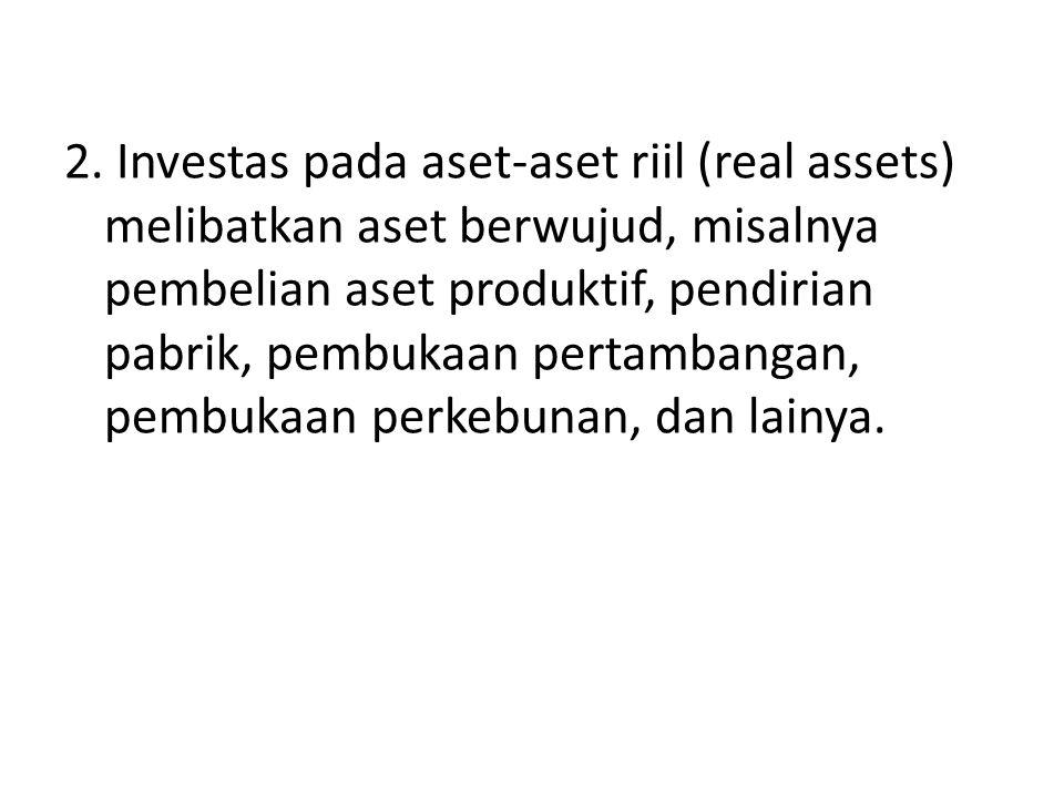 TIPE-TIPE INVESTASI A.
