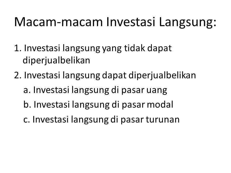 DI BEJ TERDAPAT 6 (ENAM) JENIS INDEKS 1.Indeks Harga Saham Individual (IHSI), menggunakan saham masing-masing perusahaan.