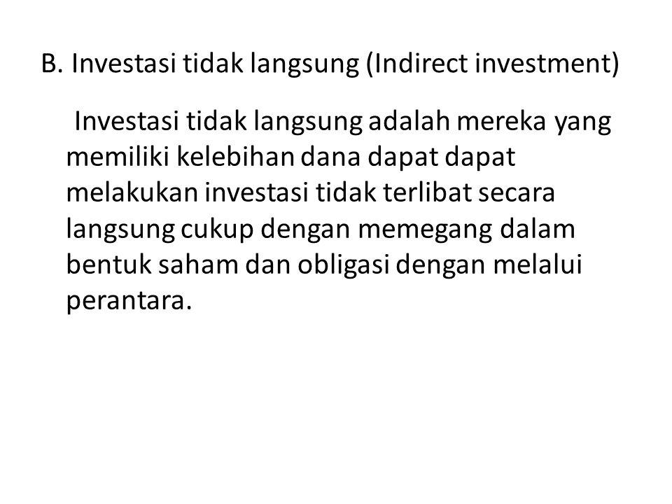 4.Indeks Harga Saham Gabungan (IHSG), menggunakan selursaruh saham yang tercatat di bursa 5.