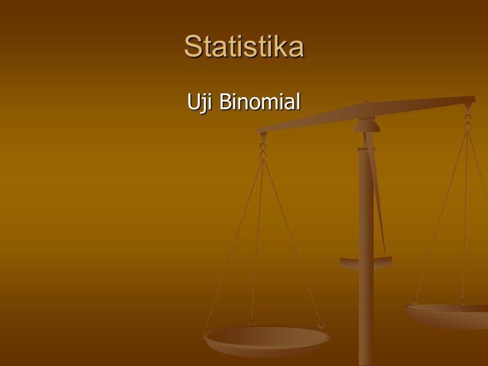 Statistika Uji Binomial