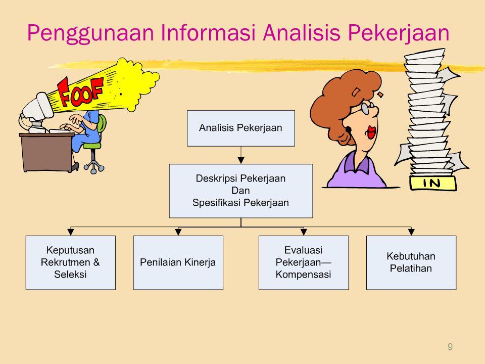 9 Penggunaan Informasi Analisis Pekerjaan
