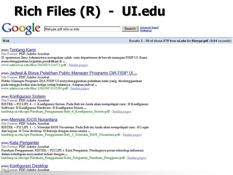 Rich Files (R) - UI.edu 39