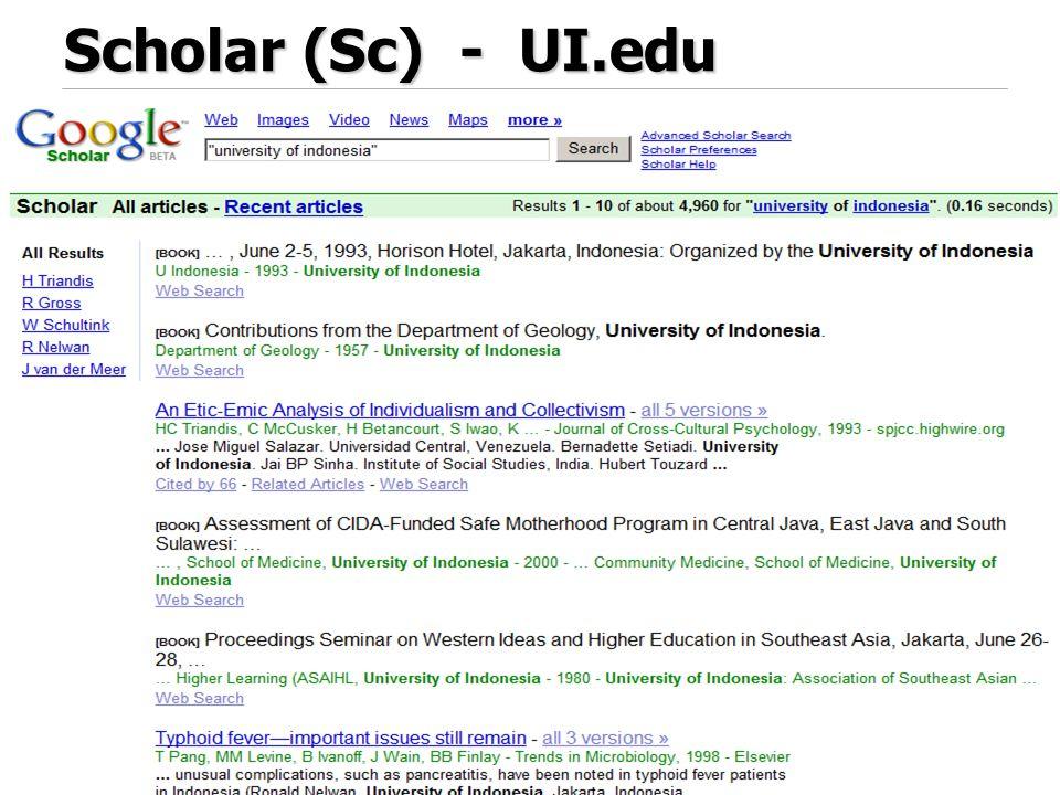 Scholar (Sc) - UI.edu 47