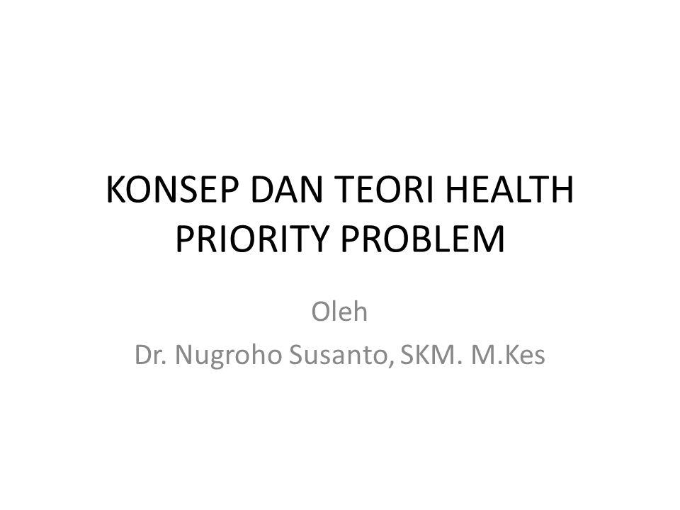 KONSEP DAN TEORI HEALTH PRIORITY PROBLEM Oleh Dr. Nugroho Susanto, SKM. M.Kes