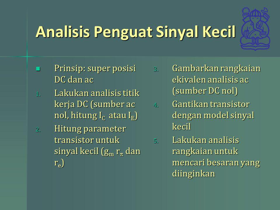 Prinsip: super posisi DC dan ac Prinsip: super posisi DC dan ac 1.