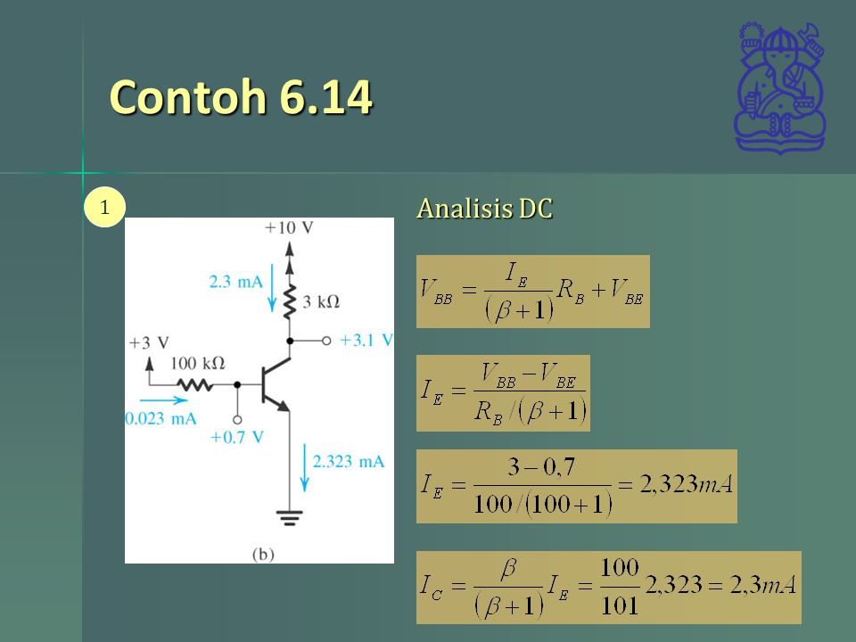 Contoh 6.14 Analisis DC 1