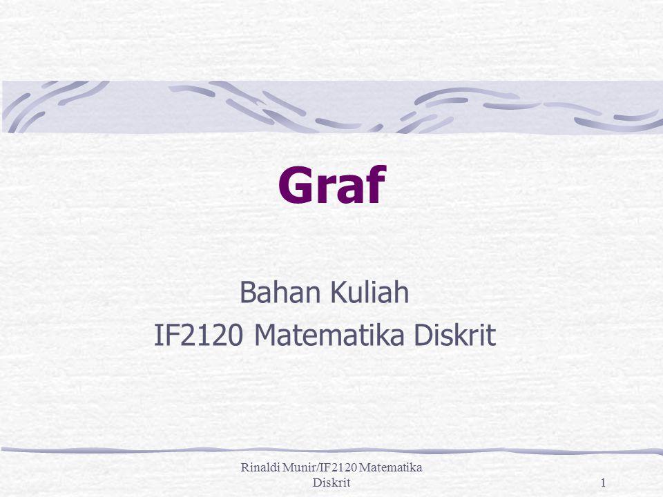 Rinaldi Munir/IF2120 Matematika Diskrit1 Graf Bahan Kuliah IF2120 Matematika Diskrit