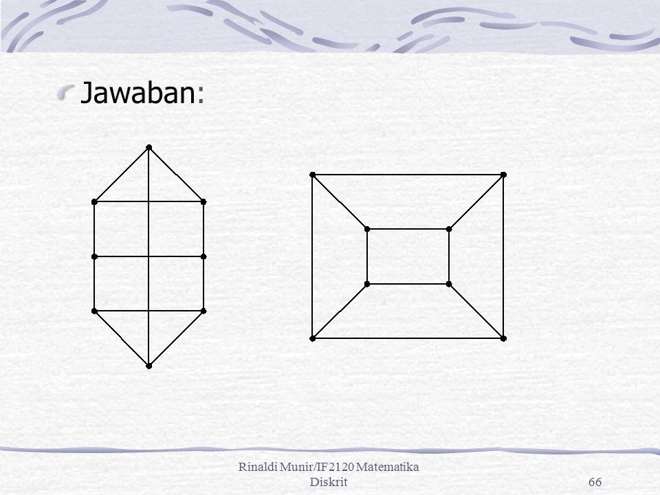 Rinaldi Munir/IF2120 Matematika Diskrit66 Jawaban: