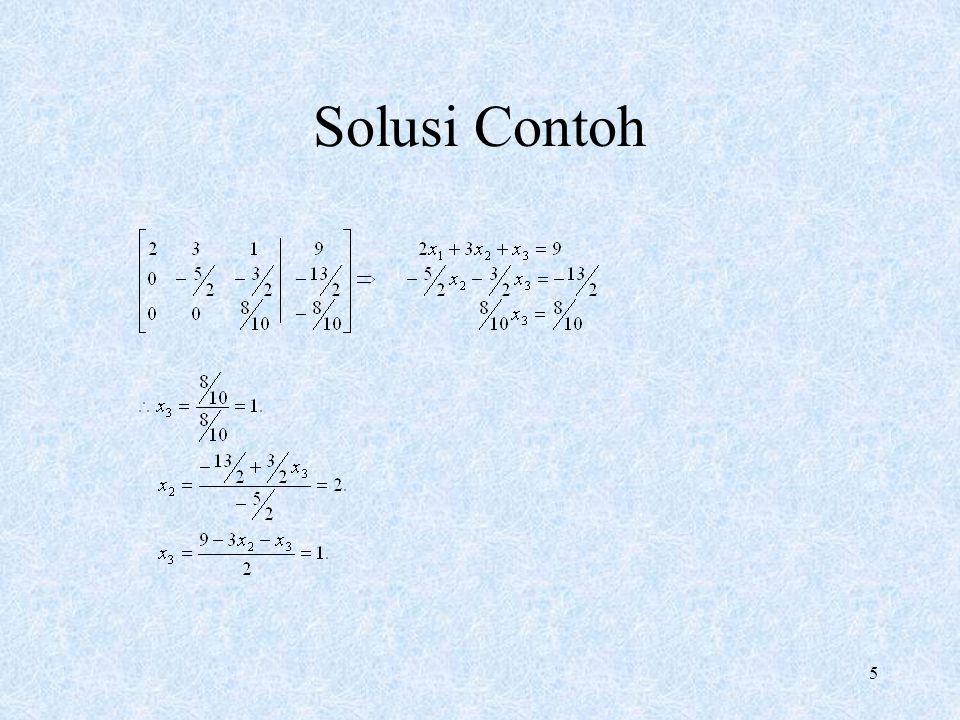 5 Solusi Contoh
