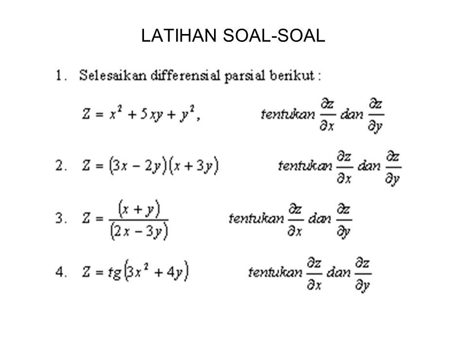 LATIHAN SOAL-SOAL