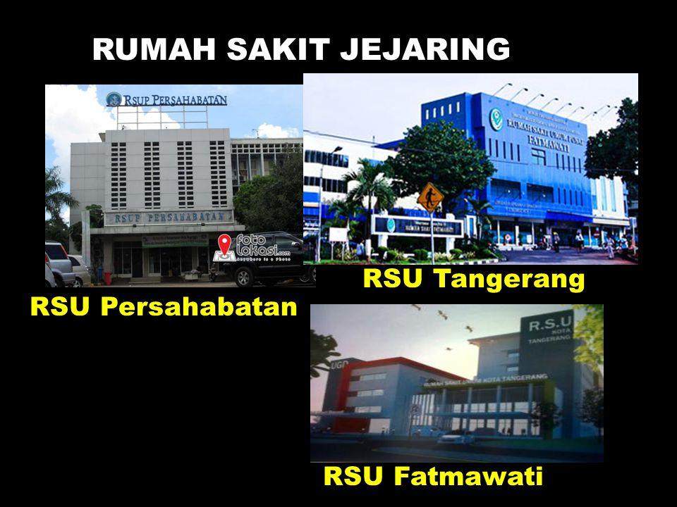 RUMAH SAKIT JEJARING RSU Persahabatan RSU Tangerang RSU Fatmawati