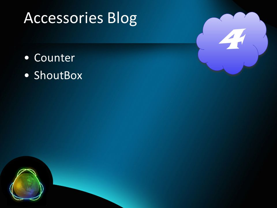 Accessories Blog Counter ShoutBox 4 4