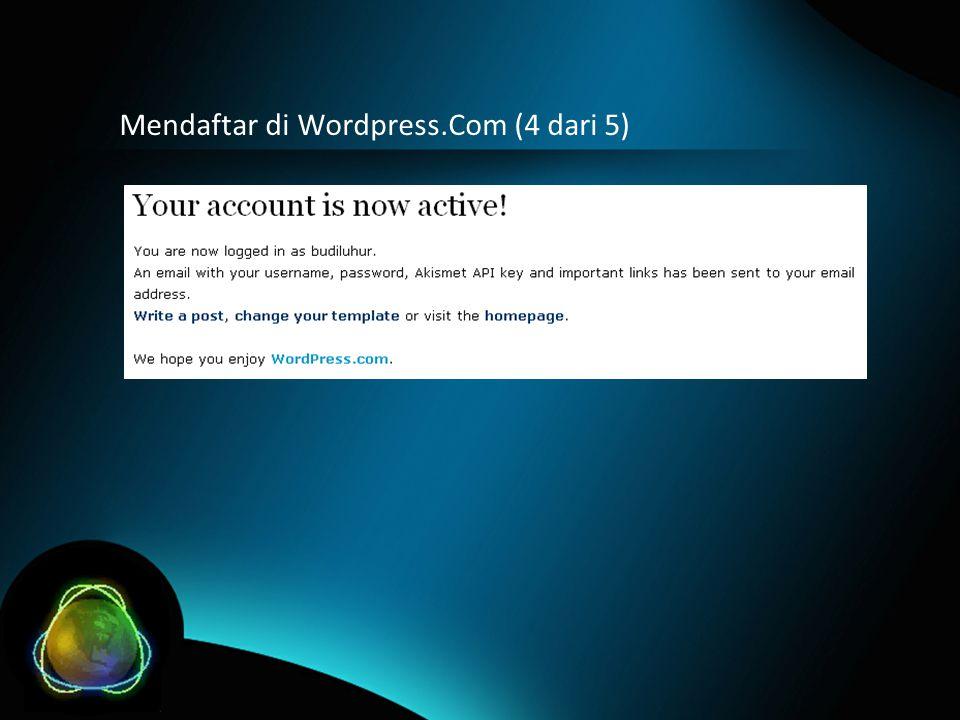 Mendaftar di Wordpress.Com (4 dari 5)
