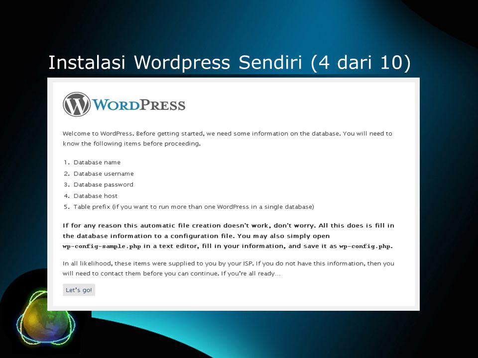 Instalasi Wordpress Sendiri (4 dari 10)