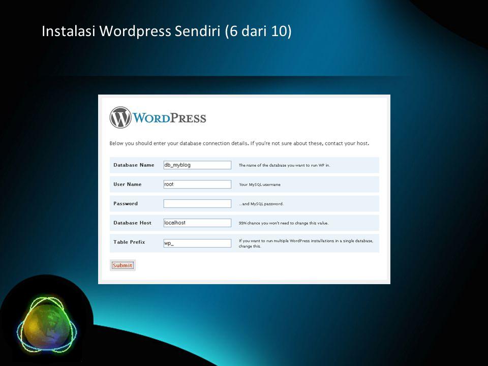 Instalasi Wordpress Sendiri (6 dari 10)