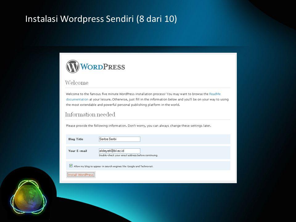 Instalasi Wordpress Sendiri (8 dari 10)