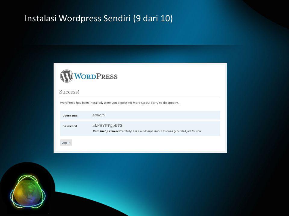 Instalasi Wordpress Sendiri (9 dari 10)