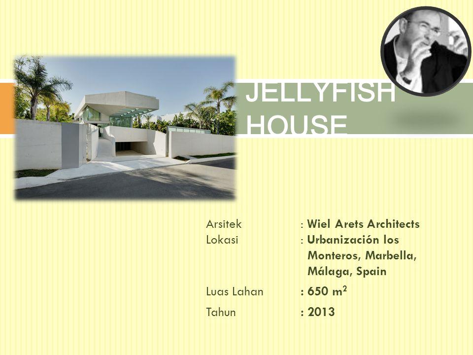 Arsitek: Wiel Arets Architects Lokasi: Urbanización los Monteros, Marbella, Málaga, Spain Luas Lahan: 650 m 2 Tahun: 2013 JELLYFISH HOUSE