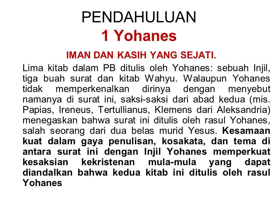 Surat ini menggarisbawahi suatu peringatan yang juga terdapat dalam 1 Yohanes mengenai bahaya guru palsu yang menyangkal penjelmaan Yesus Kristus dan menyimpang dari berita rasuli (ayat 2 Yoh 1:7-8).
