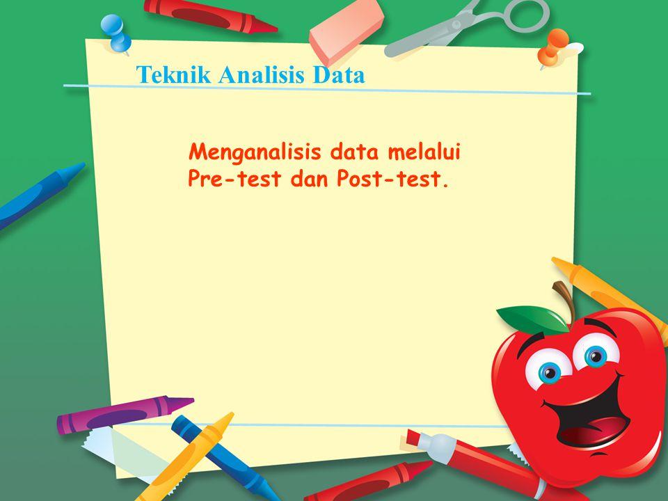 Teknik Analisis Data Menganalisis data melalui Pre-test dan Post-test.