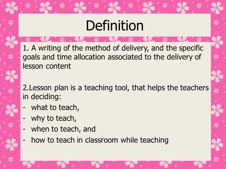 What to consider when planning a lesson