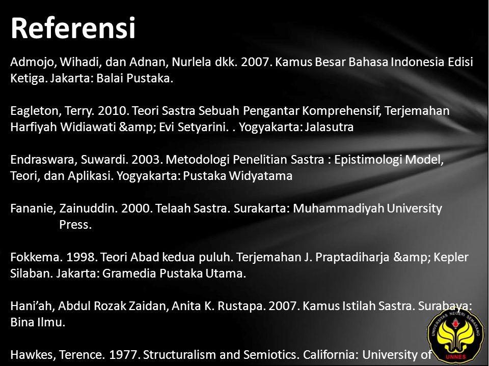 Referensi Admojo, Wihadi, dan Adnan, Nurlela dkk. 2007.