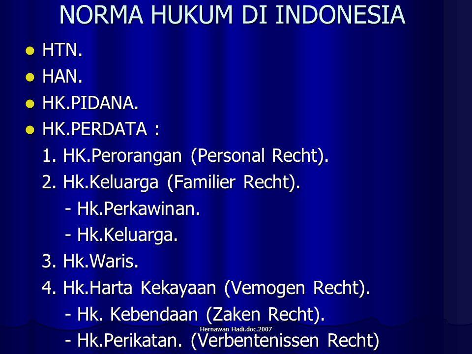 Hernawan Hadi.doc.2007 NORMA HUKUM DI INDONESIA HTN.