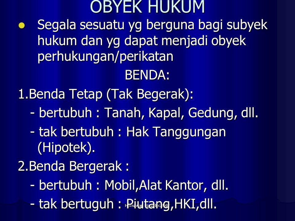 Hernawan Hadi.doc.2007 Hk Dagang Hk yg mengatur tingkah laku manusia yg turut melakukan perdagangan dlm usahanya memperoleh keuntungan.