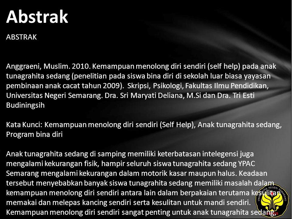 Abstrak ABSTRAK Anggraeni, Muslim. 2010.